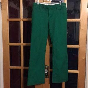 Gap boot cut chinos green size 8